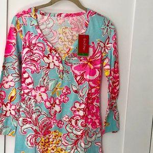 Palmetto V-Neck T-Shirt Dress - NWT